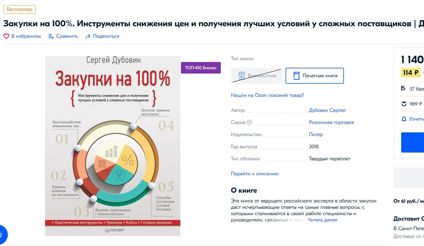 Книга Закупки на 100%