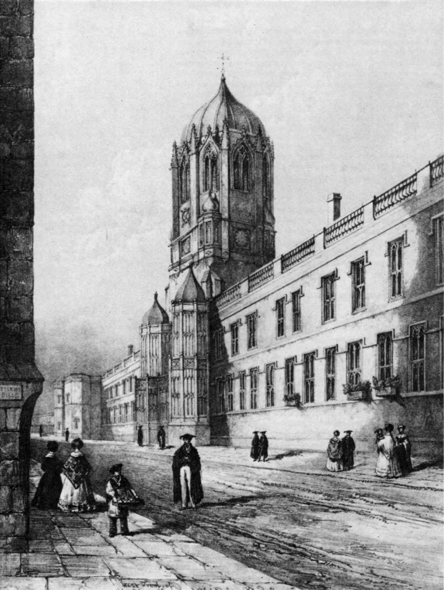 В XIX веке в колледже Оксфордского университета Christ Church студентам вручали черную мантию и шапку с квадратным верхом и кистью